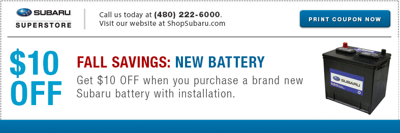 Subaru Battery Parts Special Serving Mesa, AZ