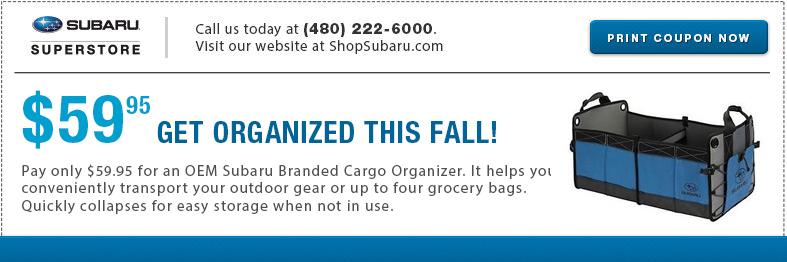 Subaru Cargo Organizer Parts Special Serving Mesa, AZ