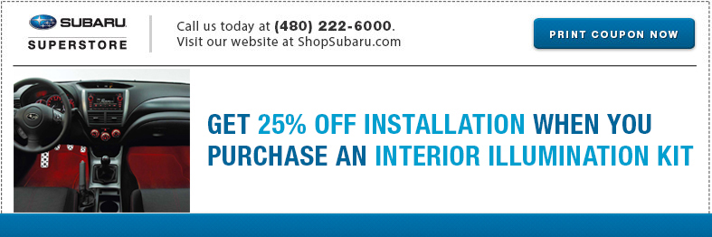 Subaru Interior Illumination Kit Parts Special Serving Mesa, AZ