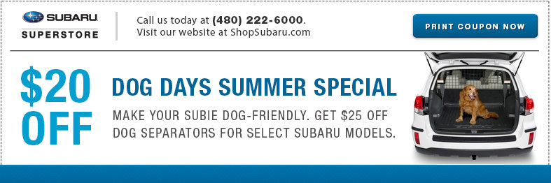 Save on pet separators from our parts store at Subaru of Superstore of Chandler