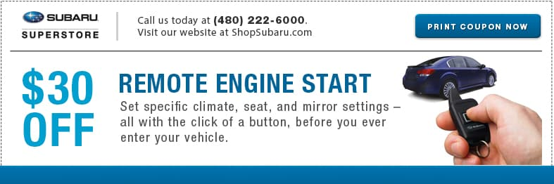 Get remote engine starter kits for a great price at Subaru of Superstore of Chandler