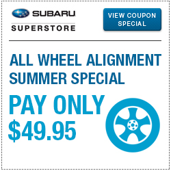 Click for our all-wheel alignment service special at Subaru Superstore of Chandler
