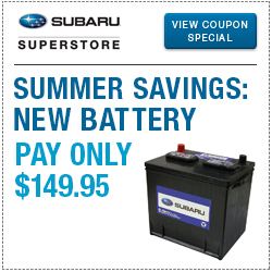 Click for our new battery replacement service special at Subaru Superstore of Chandler
