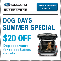 Click to view our pet separator parts special at Subaru Superstore of Chandler