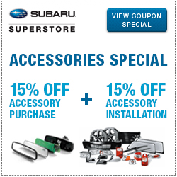 Click to view our Genuine Subaru Accessories Special Savings at Subaru Superstore of Chandler