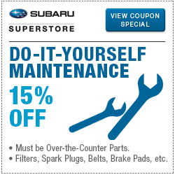Click to view our Genuine Subaru DIY Maintenance Special Savings at Subaru Superstore of Chandler