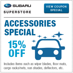 Get special savings on Genuine Subaru Accessories at Subaru Superstore of Chandler