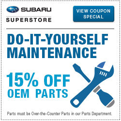 Get special savings on parts for your next DIY Maintenance project at Subaru Superstore of Chandler