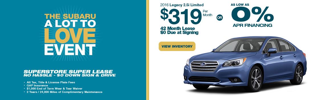 2016 Subaru Legacy Sales Lease Specials Phoenix Car Leasing
