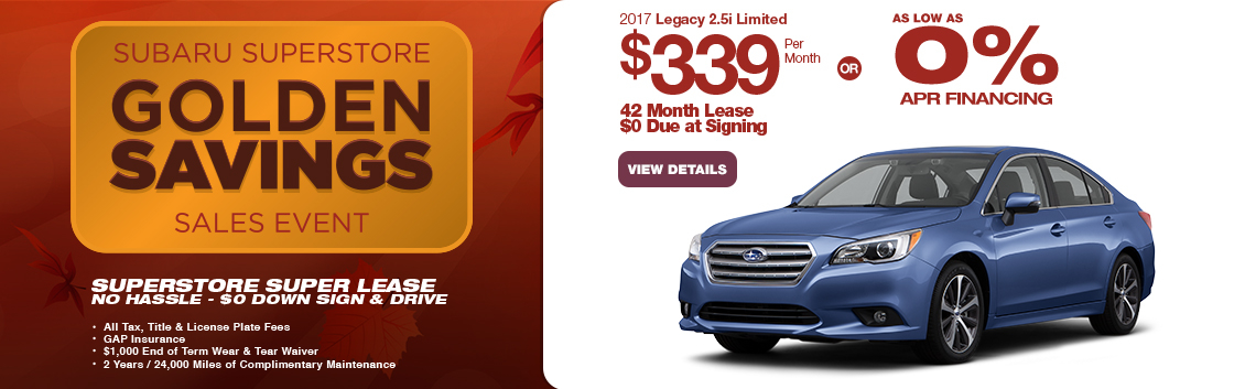 Save in the Phoenix, AZ area with this new Subaru Legacy special