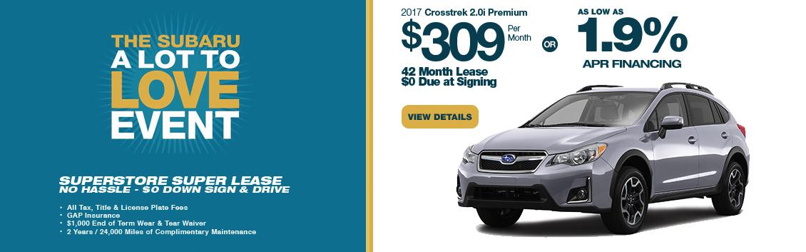 2017 Subaru Crosstrek 2.0i Premium Low Payment Lease Special serving Phoenix, AZ