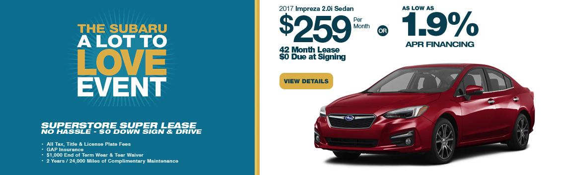 2017 Subaru Impreza 2.0i Sedan Lease Special serving Phoenix, AZ