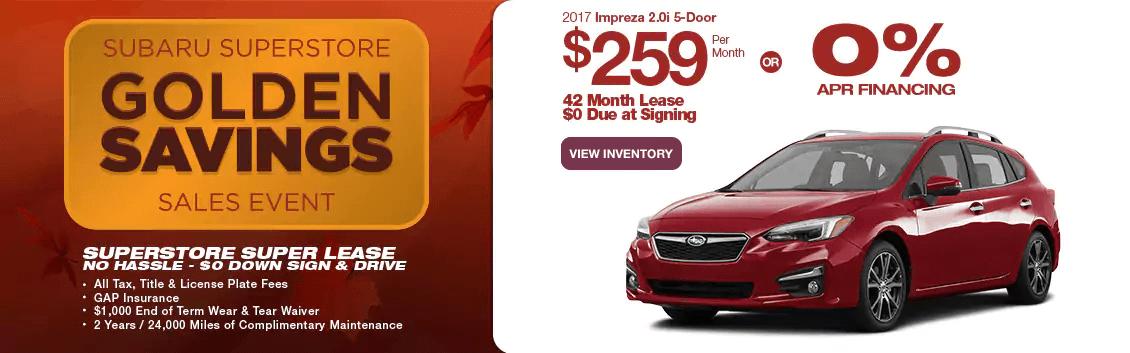 New 2017 Impreza 2.0i 5-Door Lease & Finance Specials near Phoenix, AZ at Subaru Superstore
