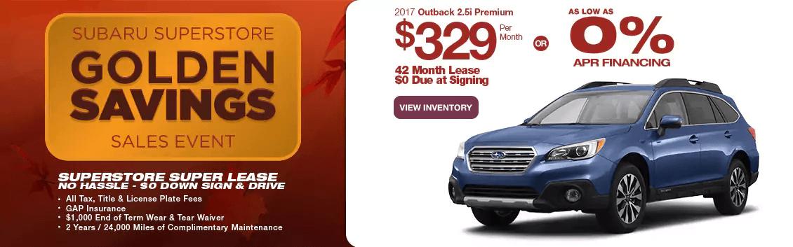 New 2017 Subaru Outback 2.5i Premium Lease Special near Phoenix at Subaru Superstore
