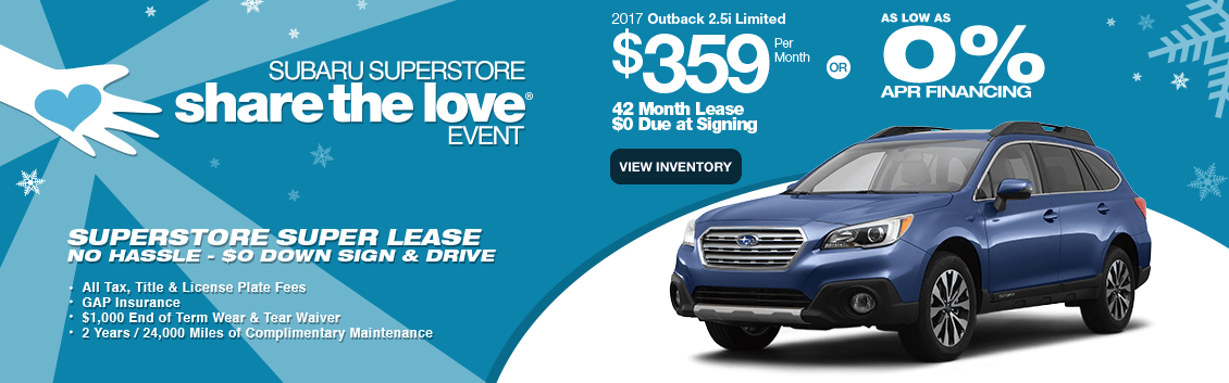 New 2017 Outback 2.5i Limited Special Lease & Finance Savings