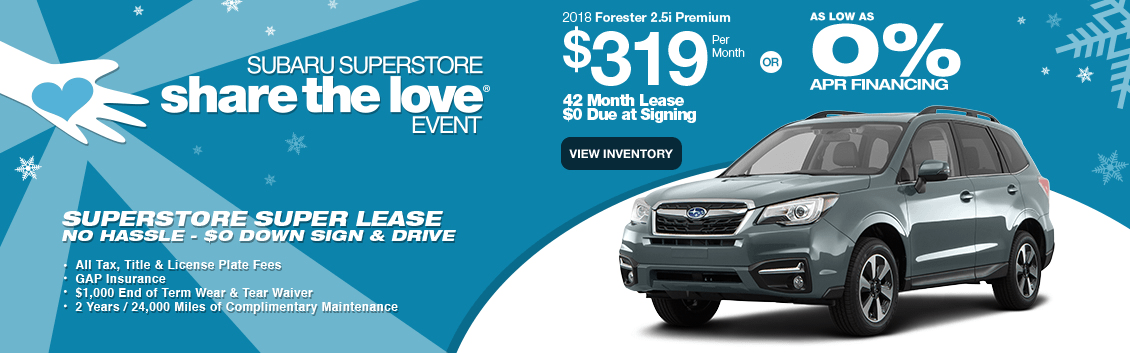 New 2018 Subaru Forester Lease Special & Finance Offers near Phoenix, AZ during our Subaru Superstore Golden Savings Event