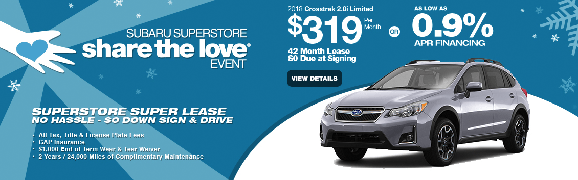 Finance or Lease a New 2018 Subaru Crosstrek near Phoenix, AZ at Subaru Superstore