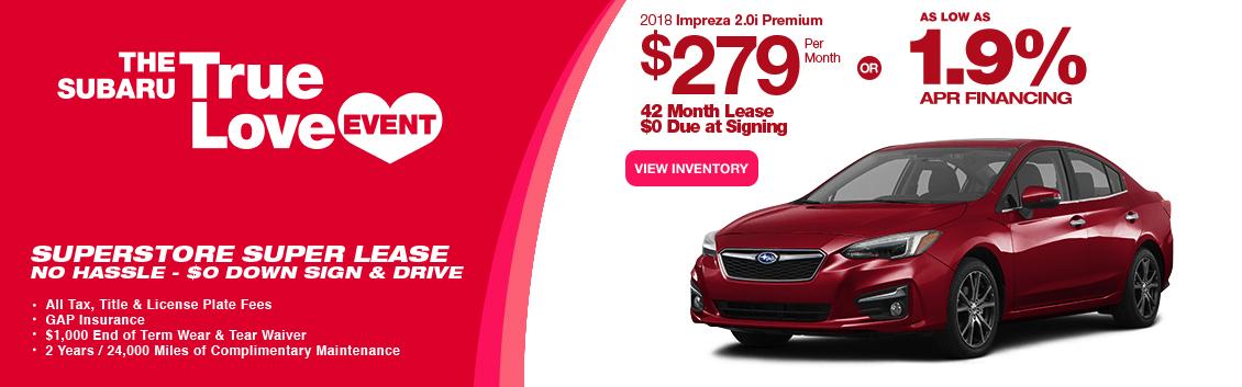 New 2017 Impreza 2.0i Sedan Lease & Finance Specials near Phoenix, AZ at Subaru Superstore