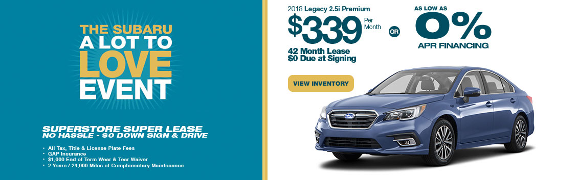 Lease a 2018 Legacy 2.5i Premium for a low monthly payment at Subaru Superstore of Chandler