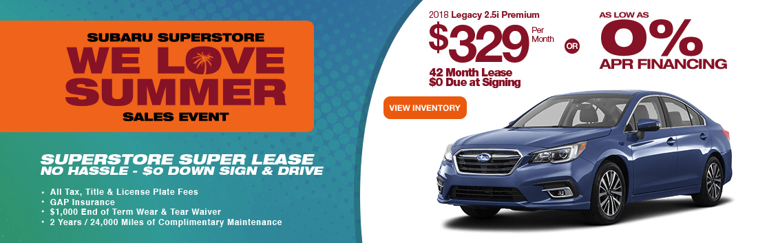 2018 Legacy 2.5i Premium lease or low APR special in Chandler, AZ
