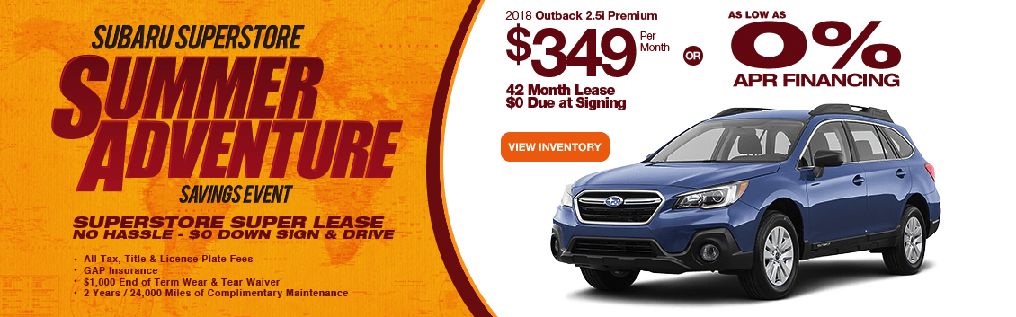 New 2018 Outback 2.5i Premium Special Lease & Finance Savings