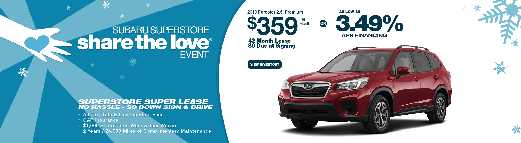 New 2019 Subaru Forester Lease Special & Finance Offers near Phoenix, AZ during our Subaru Superstore Golden Savings Sales Event