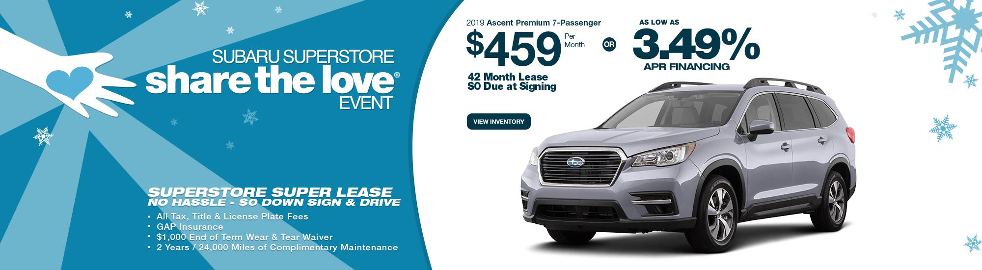 New 2019 Subaru Ascent Lease Special & Finance Offers near Phoenix, AZ