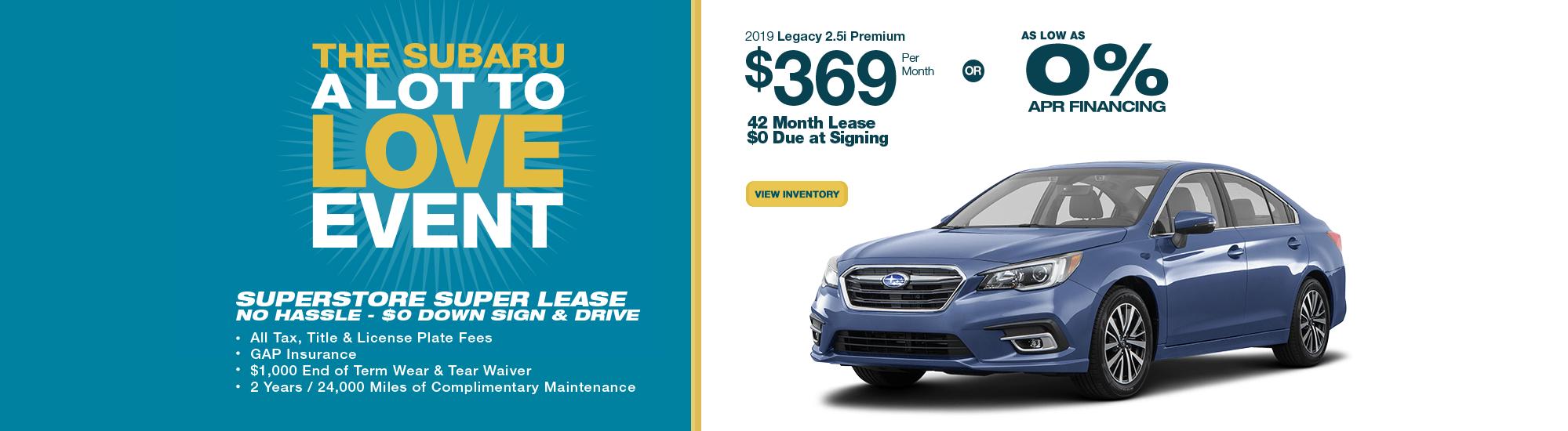 2019 Subaru Legacy 2.5i Premium lease or low APR special in Chandler, AZ