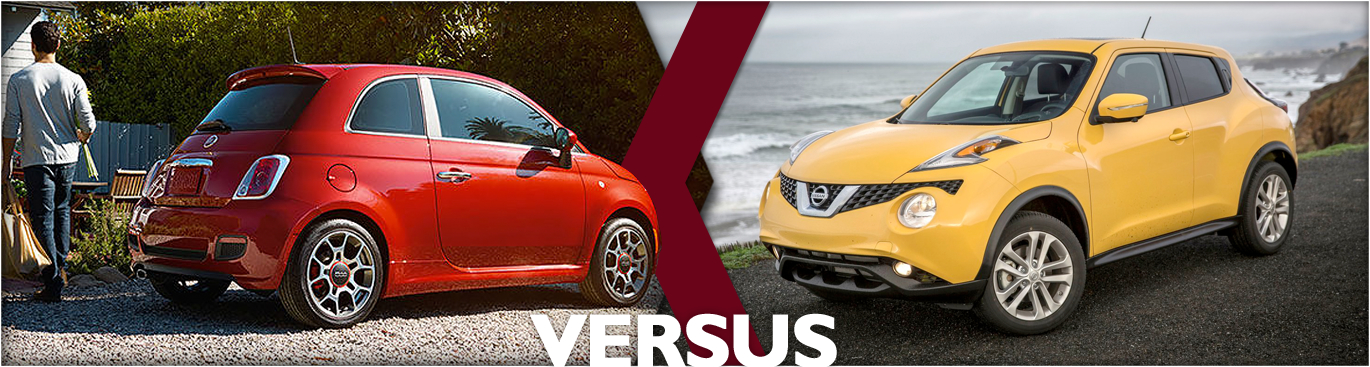 Compare 2016 Fiat 500 VS 2016 Nissan Juke Models
