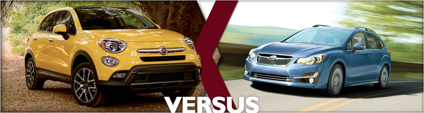 2016 FIAT 500X AWD VS 2016 Subaru Impreza 2.0i Sport Model Comparison in Tacoma, WA