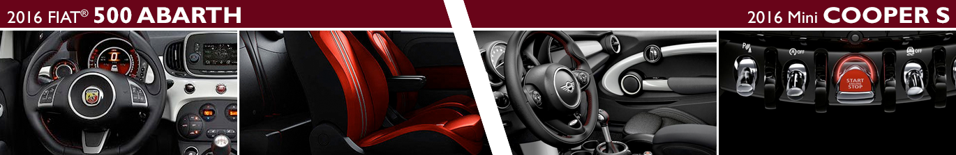 2016 FIAT 500 Abarth VS 2016 Mini Cooper S Model Interior Styling