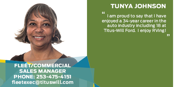 Tunya Johnson - Fleet / Commercial Sales Associate at Titus-Will Ford