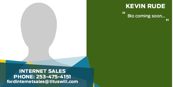 Kevin Rude - Internet Sales Staff at Titus Will Ford