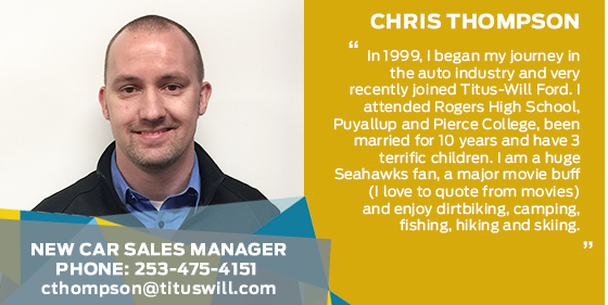 Chris Thompson - Sales Manager at Titus-Will Ford