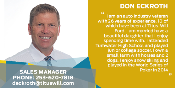 Don Eckroth - Pre-Owned Sales Manager at Titus-Will Ford