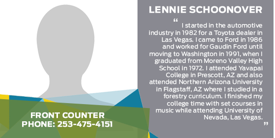 Lennie Schoonover - Front Counter Parts Associate at Titus-Will Ford