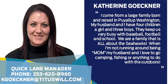 Katherine Goeckner - Quick Lane Service Advisor at Titus-Will Ford