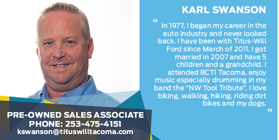 Karl Swanson - Sales Associate at Titus-Will Ford