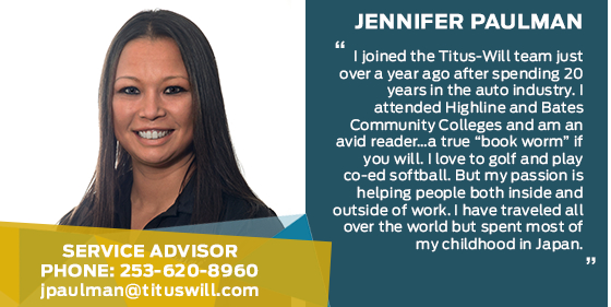 Jennifer Paulman - Service Advisor at Titus-Will Ford