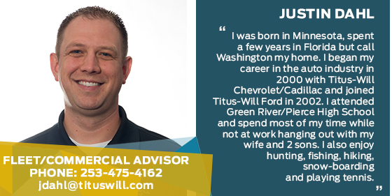 Justin Dahl - Service Advisor at Titus-Will Ford