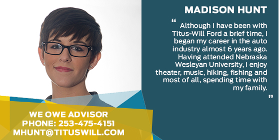 Madison Hunt - We Owe Advisor at Titus-Will Ford
