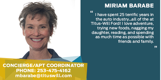 Miriam Barabe - Concierge / Appointment Coordinator at Titus-Will Ford
