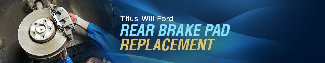 Ford Rear Brake pad Replacement Service Information