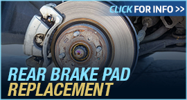 Click to View Information about our Ford Rear Brake Pad Replacement Service