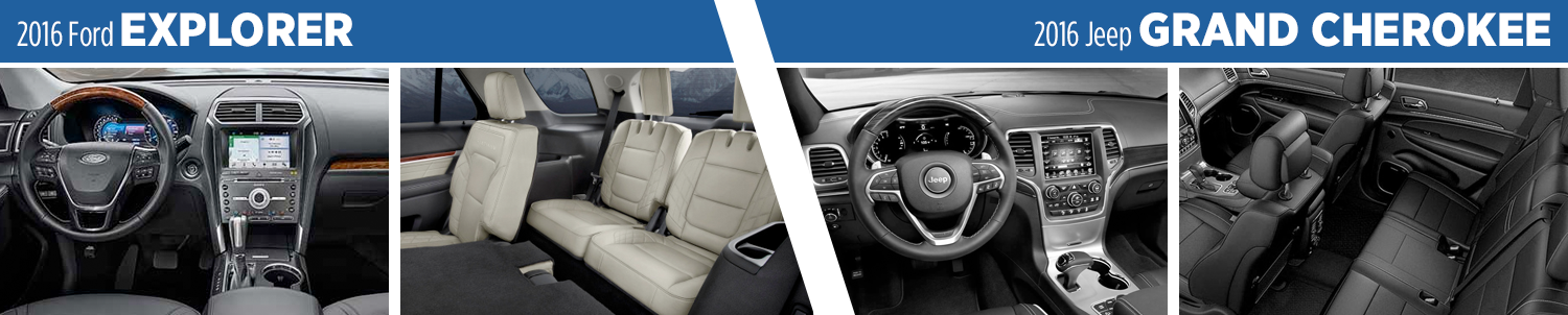 2016 Ford Explorer vs 2016 Jeep Grand Cherokee Interior Comparison