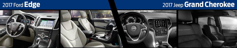 2017 Ford Edge vs Jeep Grand Cherokee Interior Comparison