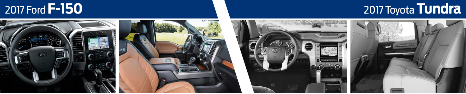 2017 Ford F150 vs Toyota Tundra Interior Comparison