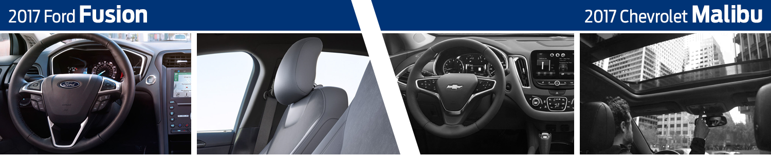 2017 Ford Fusion vs Chevrolet Malibu Interior Comparison