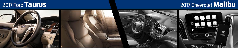 2017 Ford Taurus vs Chevrolet Malibu Interior Comparison