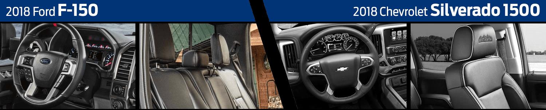 2018 Ford F-150 vs 2018 Chevrolet Silverado 1500 Interior Comparison